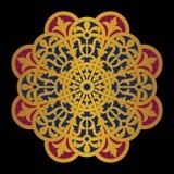Mandala del vector en un fondo negro Fotografía de archivo libre de regalías