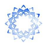 Mandala dell'acquerello isolata su bianco PA circolare di struttura di vettore Immagini Stock