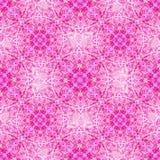 Mandala dell'acquerello Modello senza cuciture del pizzo tradizionale sul fondo rosa di colore Fotografia Stock
