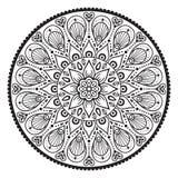 Mandala dell'indiano di vettore Fotografie Stock Libere da Diritti