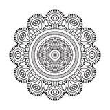 Mandala dell'indiano di vettore Immagini Stock Libere da Diritti