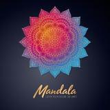 Mandala dell'indiano di vettore Fotografia Stock