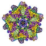 Mandala dell'ornamentale di vettore Fotografia Stock