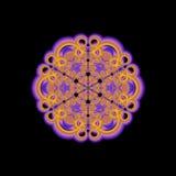 Mandala dell'oro Immagini Stock