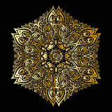 Mandala dell'oro Immagine Stock Libera da Diritti