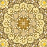 Mandala dell'oro Fotografie Stock