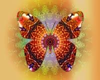 Mandala della farfalla Fotografie Stock