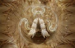 Mandala della piuma Fotografia Stock Libera da Diritti