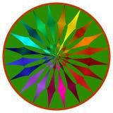 Mandala della rotella di colore Fotografie Stock Libere da Diritti