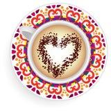 Mandala della tazza da caffè Illustrazione Vettoriale