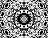 Mandala dello zentangle di coloritura Immagine Stock