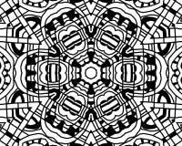 Mandala dello zentangle di coloritura Fotografie Stock Libere da Diritti