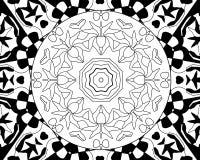 Mandala dello zentangle di coloritura Immagine Stock Libera da Diritti