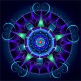 Mandala den hypnotiska festmåltiden av färger Arkivfoton
