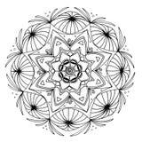 Mandala desenhado à mão Imagens de Stock Royalty Free