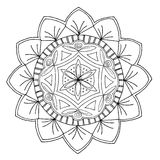 Mandala desenhado à mão Fotografia de Stock Royalty Free