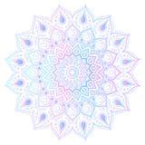 Mandala - desenho a mão livre Ilustração do vetor gradient Imagens de Stock