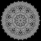 Mandala deseniuje biel Zdjęcie Royalty Free