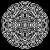Mandala deseniuje biel Obrazy Royalty Free