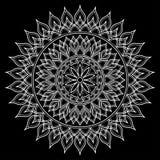 Mandala deseniuje biel Zdjęcia Royalty Free