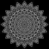 Mandala deseniuje biel Obraz Stock