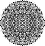 Mandala deseniuje czarny i biały Zdjęcia Stock