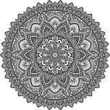Mandala deseniuje czarny i biały Zdjęcie Royalty Free
