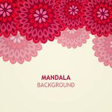 Mandala Design Background ornementale Image libre de droits