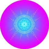 Mandala Design Blue et cercle rose illustration de vecteur