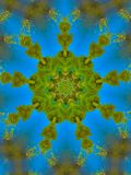 Green and Blue Mandala Designn royalty free stock photography