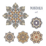 Mandala design elements set Stock Image