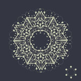 Mandala design. Outlined shape inspired by tribal Stock Images