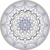 Mandala design in silvery grey and blue royalty free stock photography