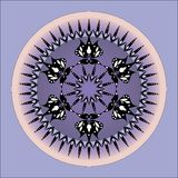 Mandala design. Vector purple flower mandala design royalty free illustration