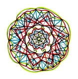 Mandala design with vibrant colors Stock Image