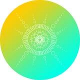 Mandala Design Yellow en Blue Circle Royalty-vrije Stock Fotografie