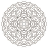 Mandala dessiné dans les lignes noires minces Image stock