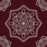 Mandala detalhada no fundo escuro Foto de Stock Royalty Free