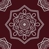 Mandala detallada en fondo oscuro Foto de archivo libre de regalías