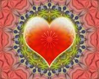 Mandala di amore illustrazione di stock