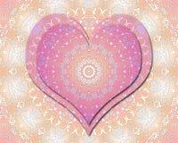 Mandala di amore Immagine Stock Libera da Diritti