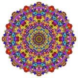 Mandala di colore pieno Fotografie Stock Libere da Diritti