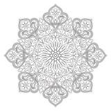 Mandala di contorno di vettore su un fondo bianco Immagine Stock