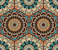 Mandala di Honey Comb Hex Pattern Flower delle mattonelle Fotografia Stock