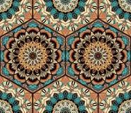 Mandala di Honey Comb Hex Pattern Flower delle mattonelle Fotografia Stock Libera da Diritti