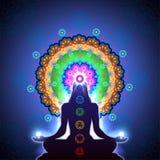 Mandala di meditazione di Chakra Immagine Stock