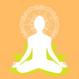 Mandala di posa di meditazione di yoga Fotografia Stock