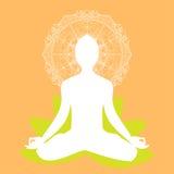 Mandala di posa di meditazione di yoga illustrazione di stock