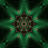 Mandala di rame della stella di rilievo Fotografie Stock