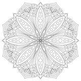Mandala di vettore Elemento decorativo orientale disegnato a mano Elemento etnico di progettazione Fotografia Stock